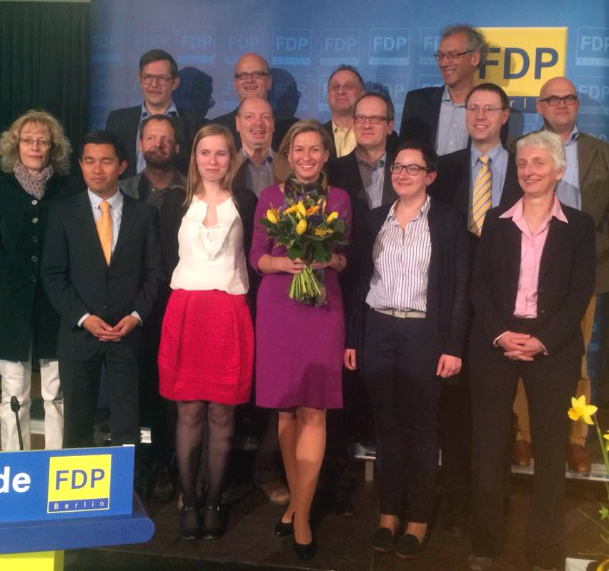 Der neue Landevorstand der Berliner FDP