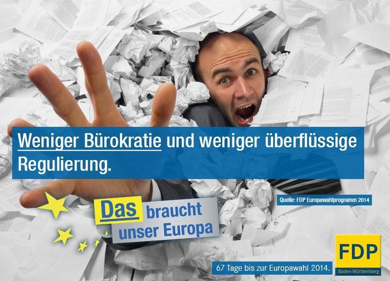 Weniger Bürokratie